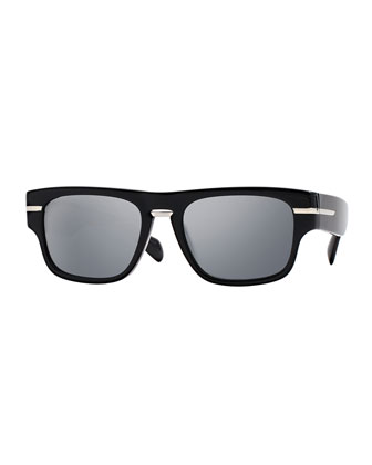 Public School 55 Acetate Sunglasses, Black