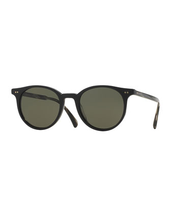 Delray Sun 48 Polarized Sunglasses, Black
