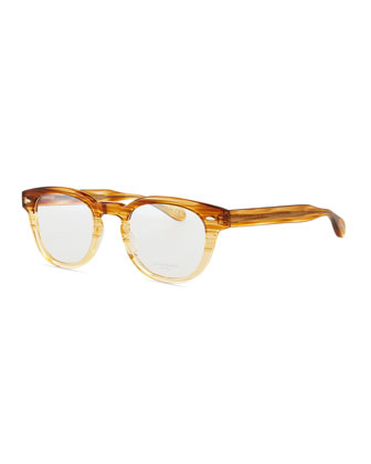 Sheldrake Streaked Fashion Glasses, Oak, Men's