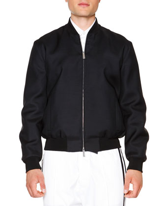 Nylon Bomber Jacket, Graffiti-Print Button-Down Shirt & Side-Stripe Jogger ...