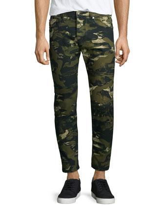 T-Tossik Short-Sleeve Tee & Camo-Print Slim Jeans