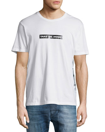 Take Me Home Graphic Tee, White