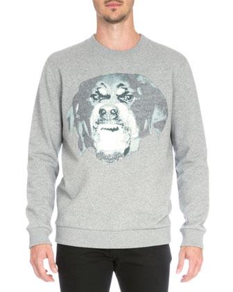 Rottweiler Crewneck Sweatshirt & Studded Back-Pocket Denim Jeans