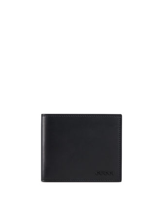 Rubber Leather Wallet, Black