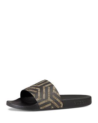 Pursuit GG Caleido Canvas Sandal, Multi
