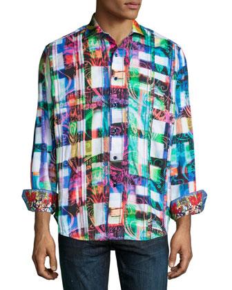 Ernie Bishop Patterned Sport Shirt, Multi