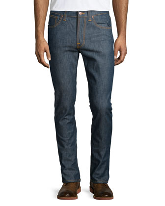 Lean Dean Slim-Straight Jeans, Dark Blue