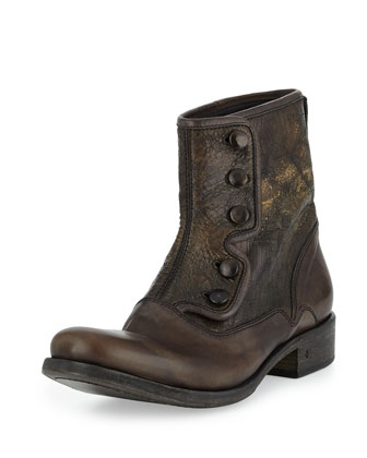 Bowery Button Boot, Gray