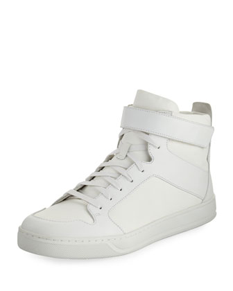 Athens Suede High-Top Sneaker, Black