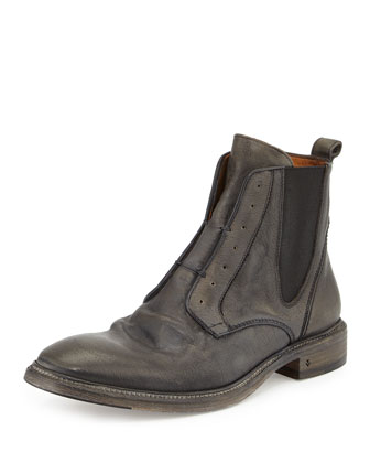 Norvegian Laceless Leather Chelsea Boot, Gray