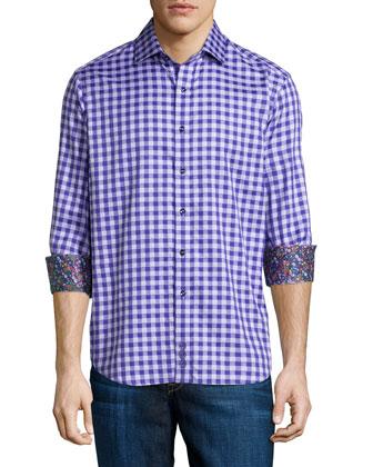 Dartmoor Check Sport Shirt, Purple
