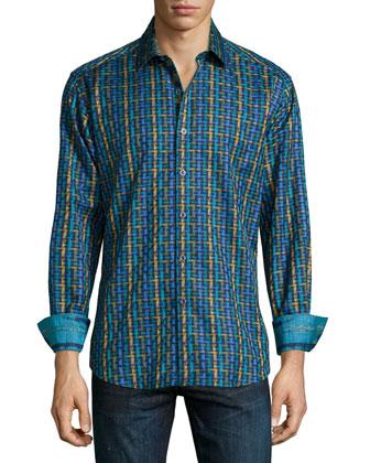 Melrose Multi-Print Sport Shirt, Multi