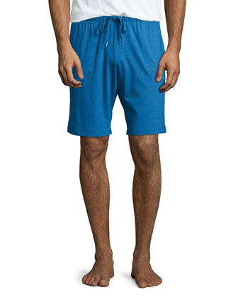 Jersey Lounge Shorts, Blue