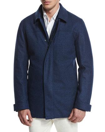 Cashmere-Silk Three-Button Sweater Jacket, Cashmere-Silk Zip Jacket, Andre ...