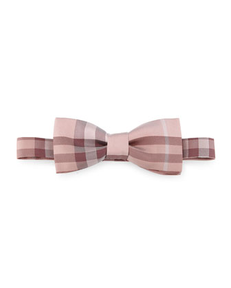 Blake Check Silk Bow Tie, Red