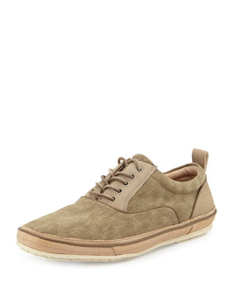 Redding Canvas Lace-Up Sneaker, Tan
