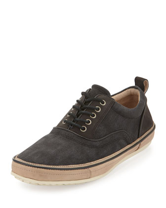 Redding Canvas Lace-Up Sneaker, Navy