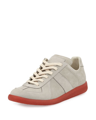 Replica Leather Low-Top Sneaker