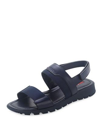 Nylon Strappy Sandal, Blue