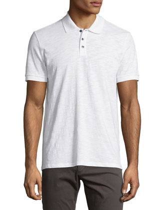 Slub Polo Shirt, White