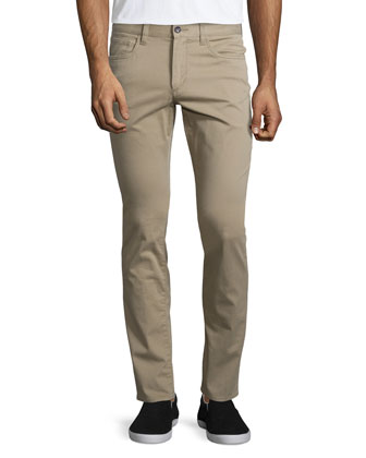 Essential Five-Pocket Stretch-Twill Pants, Khaki