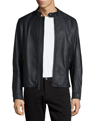 Moto Leather Jacket, Black