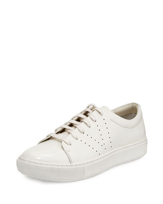 Luke Patent Lace-Up Low-Top Sneaker