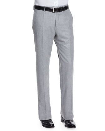 Super 150s Flannel Trousers, Gray