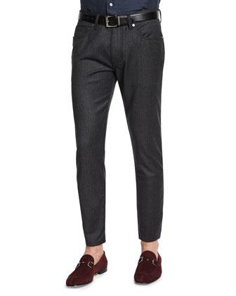 Wool-Cashmere Blend Zip-Up Jacket, Jacquard-Check Long-Sleeve Sport Shirt & ...