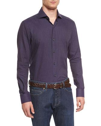 Baby Flannel Long-Sleeve Sport Shirt, Purple