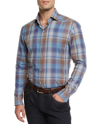Trofeo Textured Two-Button Jacket, Extra-Large Plaid Sport Shirt & ...