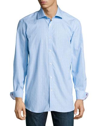 Lex Regular-Fit Striped Dress Shirt, Teal