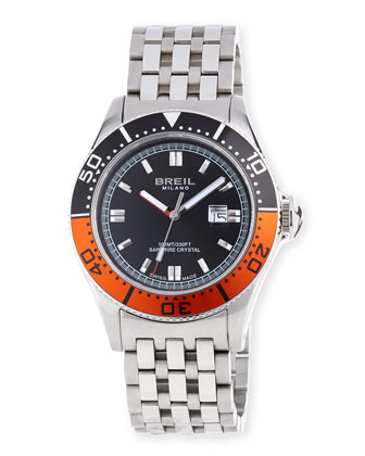 Manta Watch, Orange/Black