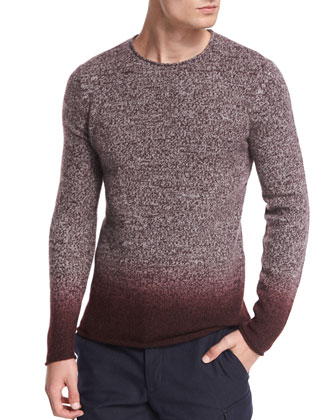 Degrade Marled Merino Sweater, Wine
