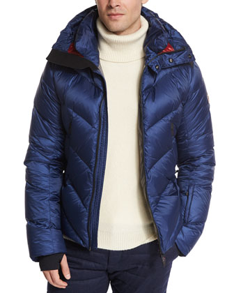 Beckler Quilted Down Puffer Jacket, Blue