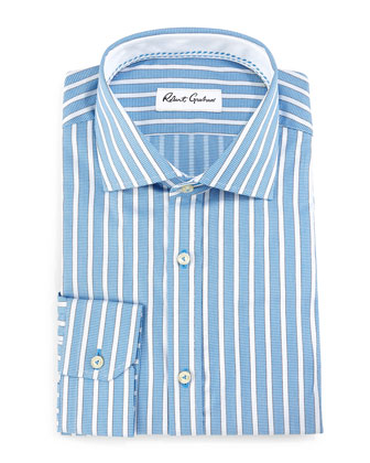 Chancey Striped Dress Shirt, Blue
