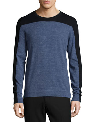 Jasper Colorblock Crewneck Shirt, Blue