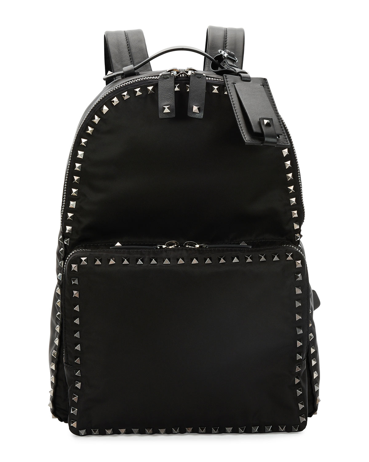 Rockstud Nylon Backpack, Black - Valentino