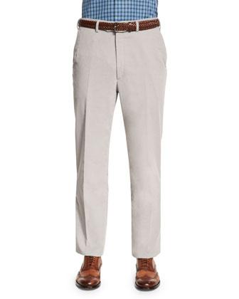 Pinwale Corduroy Trousers, Gray