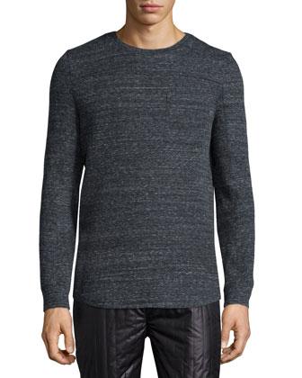 Melange Long-Sleeve T-Shirt, Dark Gray