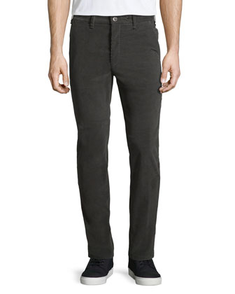 Race Drainpipe Stretch Trousers, Gray