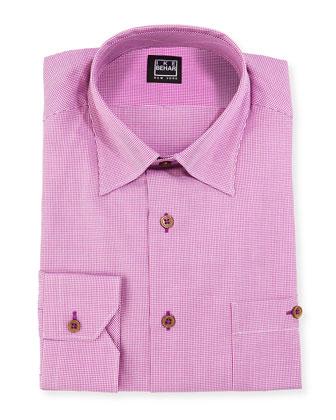 Pindot Dress Shirt, Purple