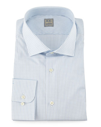 Mini-Check Woven Dress Shirt
