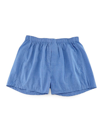 Solid Boxer Shorts, Blue