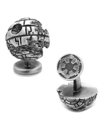 3D Death Star Cuff Links