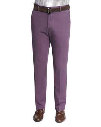 Raleigh Washed Twill Pants, Wine