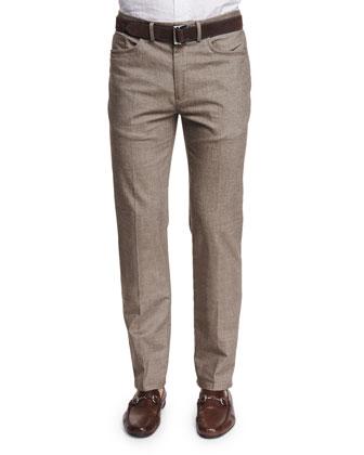Melange Twill Hybrid Pants, British Tan
