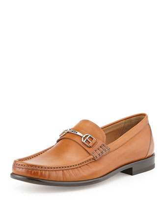 Lorian Washed Leather Buckle Loafer