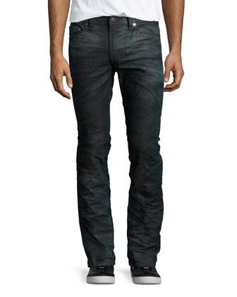 Thavar Faded Tie-Dye Jeans, Black