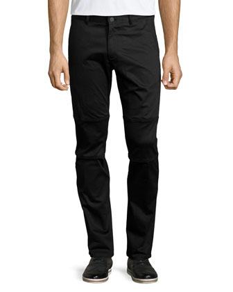 Bikor Revore Slim-Stretch Biker Pants, Black